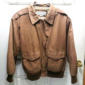 Avanti Brown Genuine Bomper Jacket Sz M